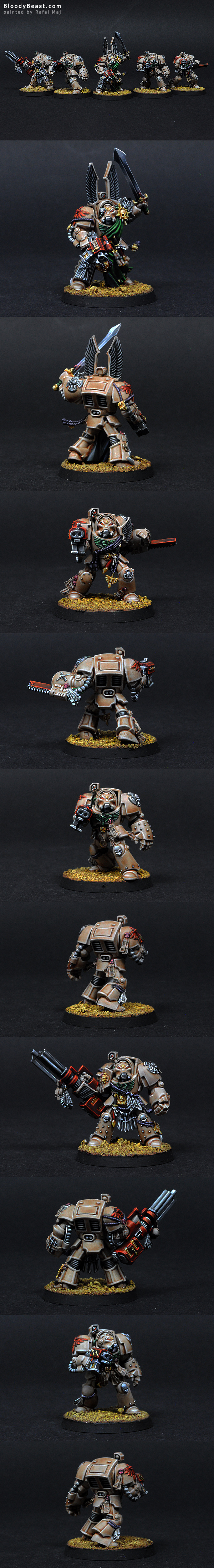 Dark Angels Deathwing Terminator Squad painted by Rafal Maj (BloodyBeast.com)