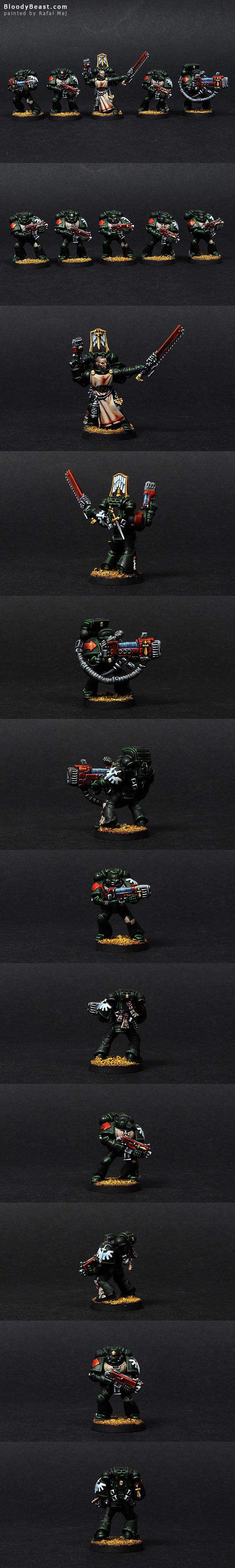 Dark Angels Tactical Squad painted by Rafal Maj (BloodyBeast.com)