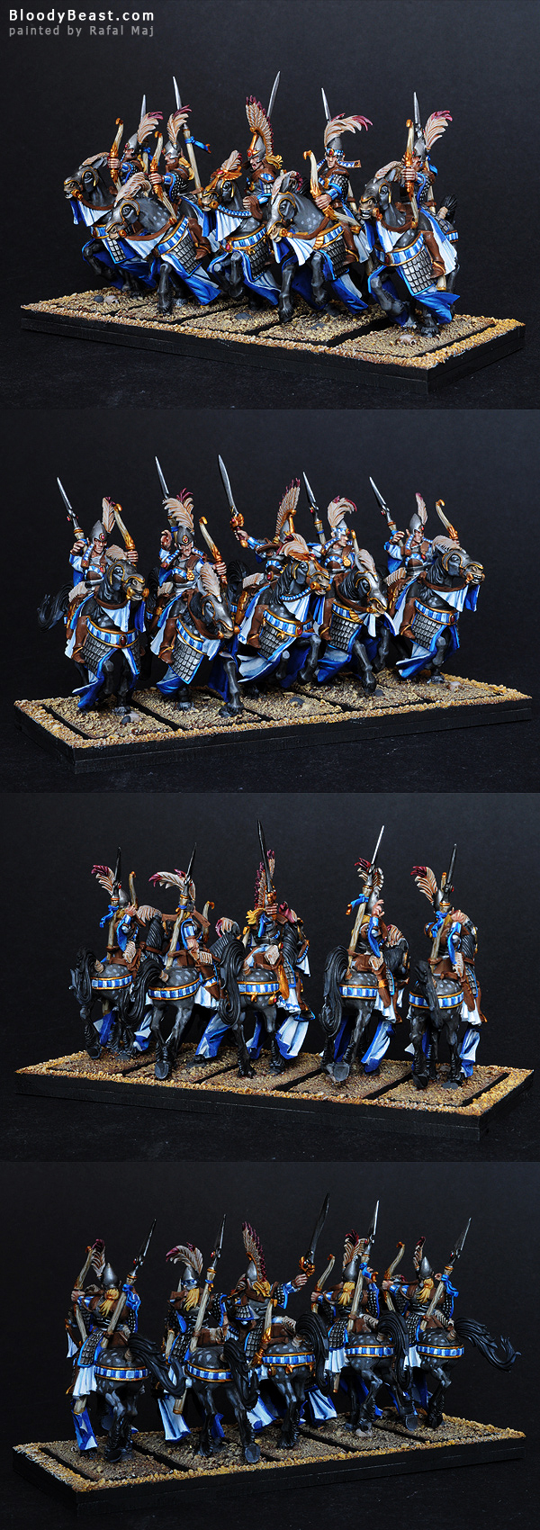 High Elf Ellyrian Reavers painted by Rafal Maj (BloodyBeast.com)