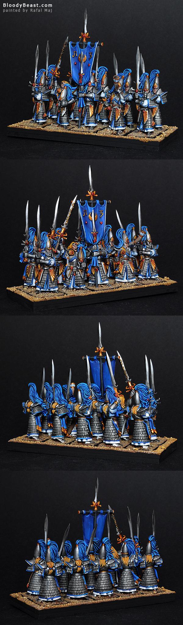 High Elf Sword Masters of Hoeth painted by Rafal Maj (BloodyBeast.com)