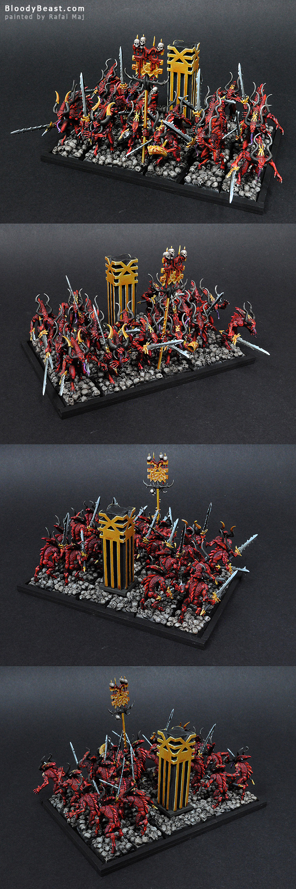 Bloodletters of Khorne painted by Rafal Maj (BloodyBeast.com)