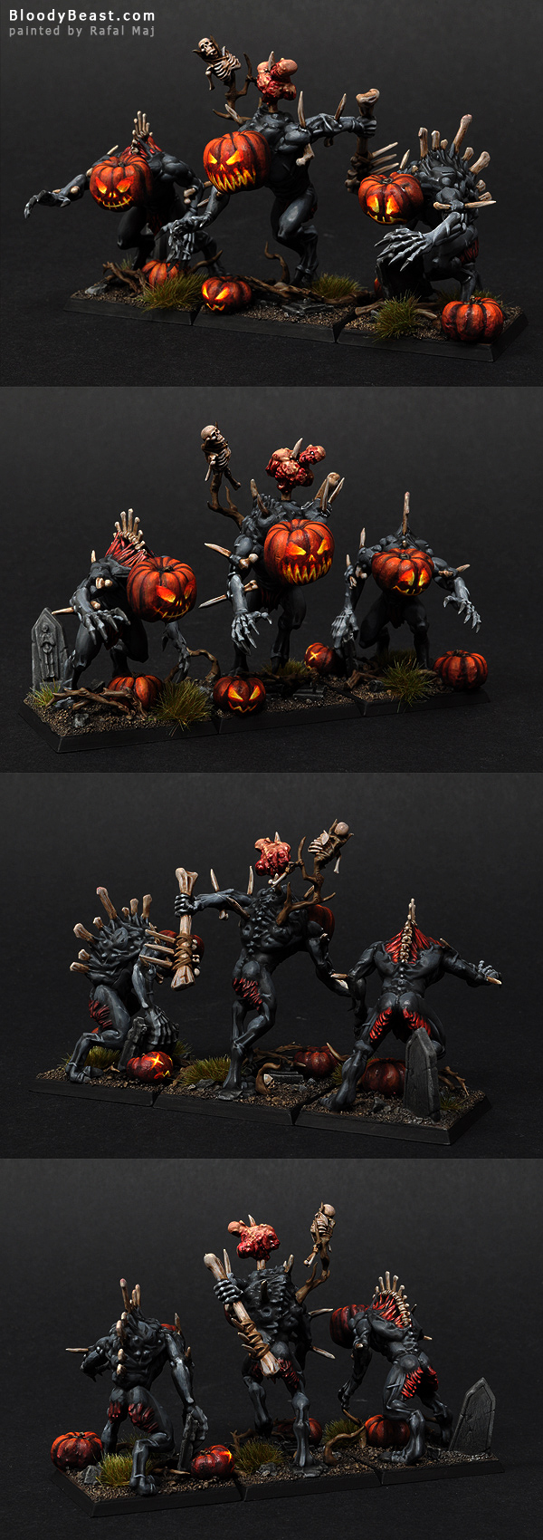 Halloween Pumpkin Head Crypt Horrors painted by Rafal Maj (BloodyBeast.com)