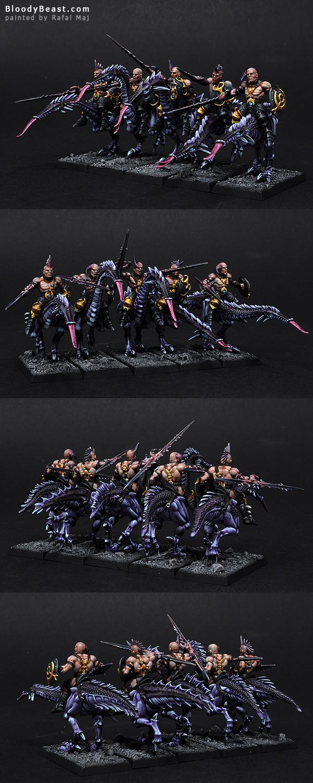 Hellstriders of Slaanesh painted by Rafal Maj (BloodyBeast.com)