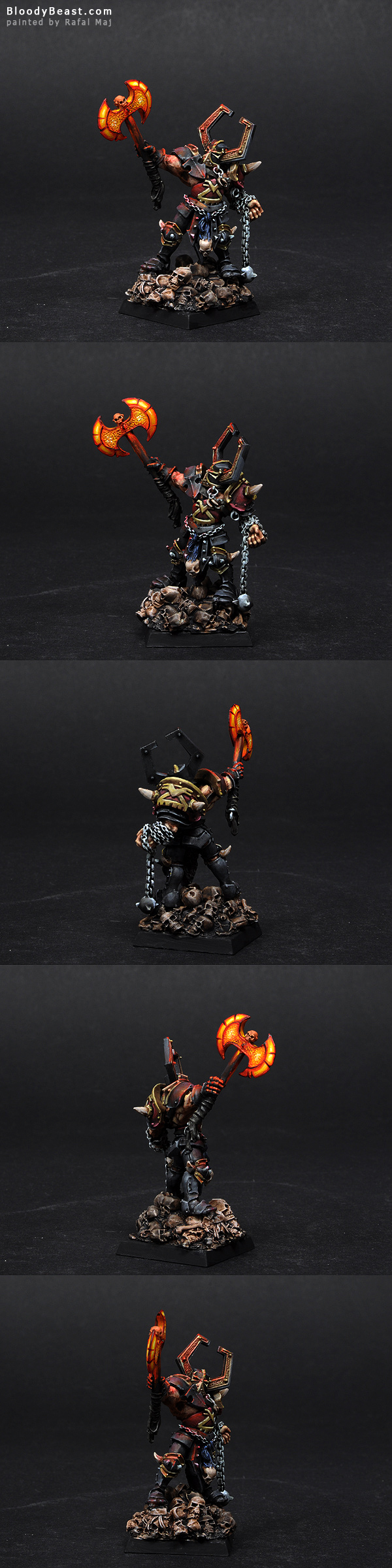 Chaos Lord of Khorne painted by Rafal Maj (BloodyBeast.com)