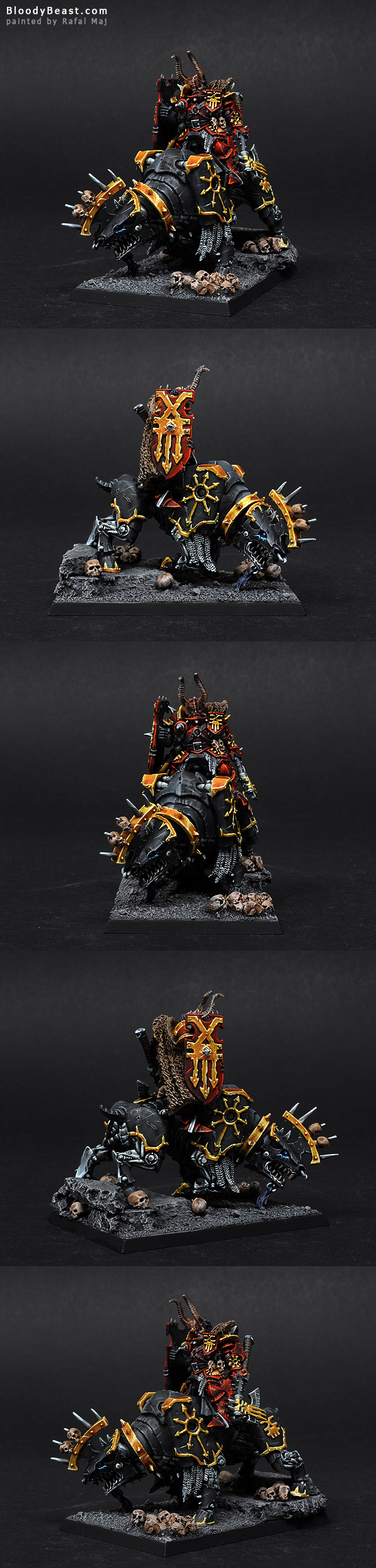 Lord Of Khorne On Juggernout painted by Rafal Maj (BloodyBeast.com)