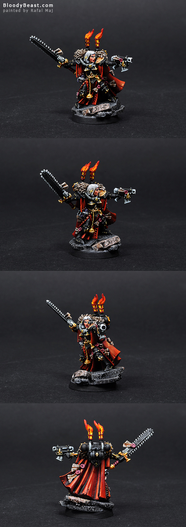 Sisters of Battle Canoness painted by Rafal Maj (BloodyBeast.com)