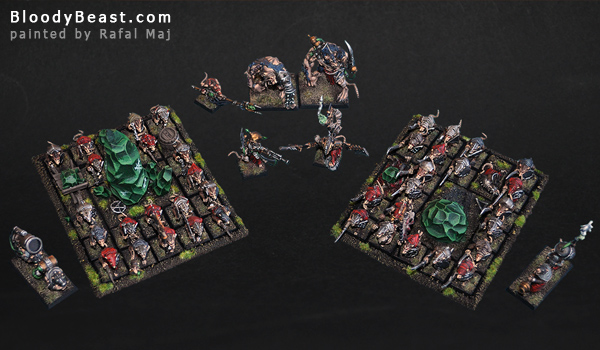 Skaven Army painted by Rafal Maj (BloodyBeast.com)