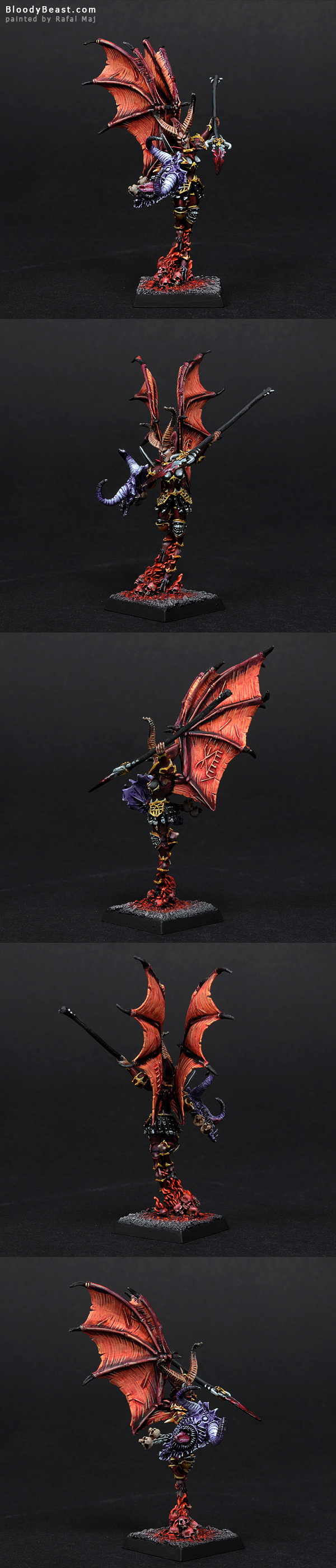 Valkia the Bloody painted by Rafal Maj (BloodyBeast.com)