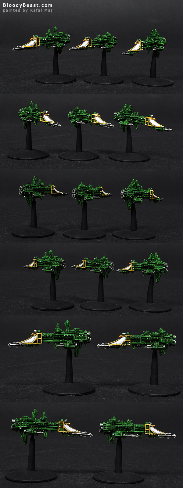 Imperial Firestorm Frigates painted by Rafal Maj (BloodyBeast.com)