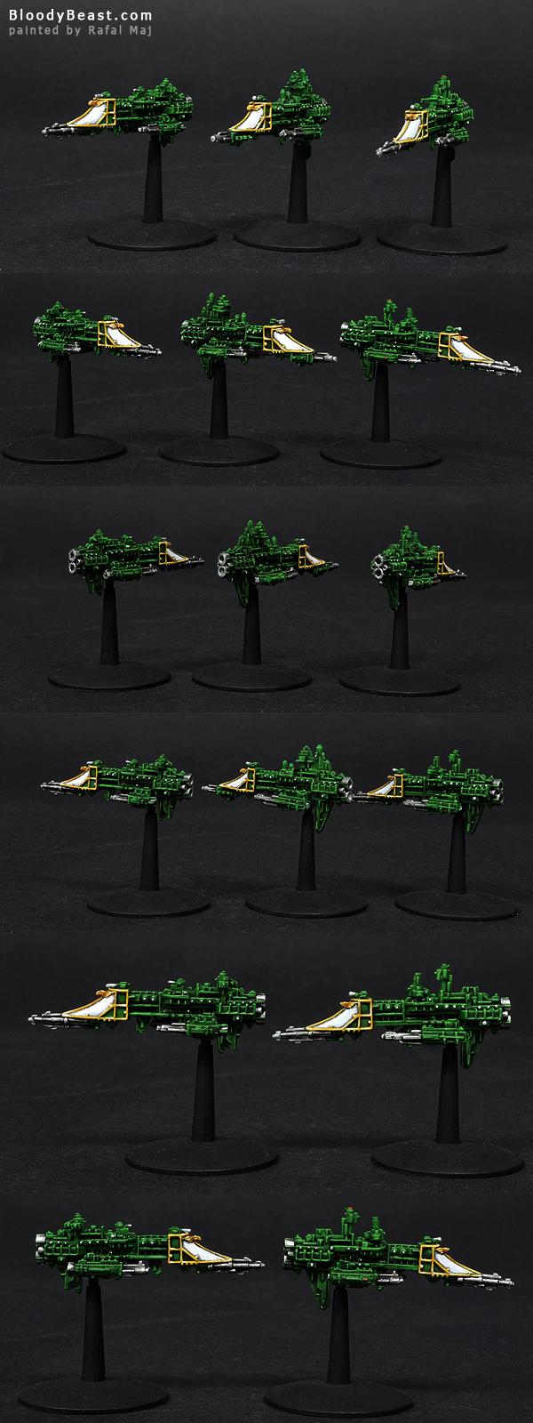 Imperial Firestorm Frigates painted by Rafal Maj (BloodyBeast.com)