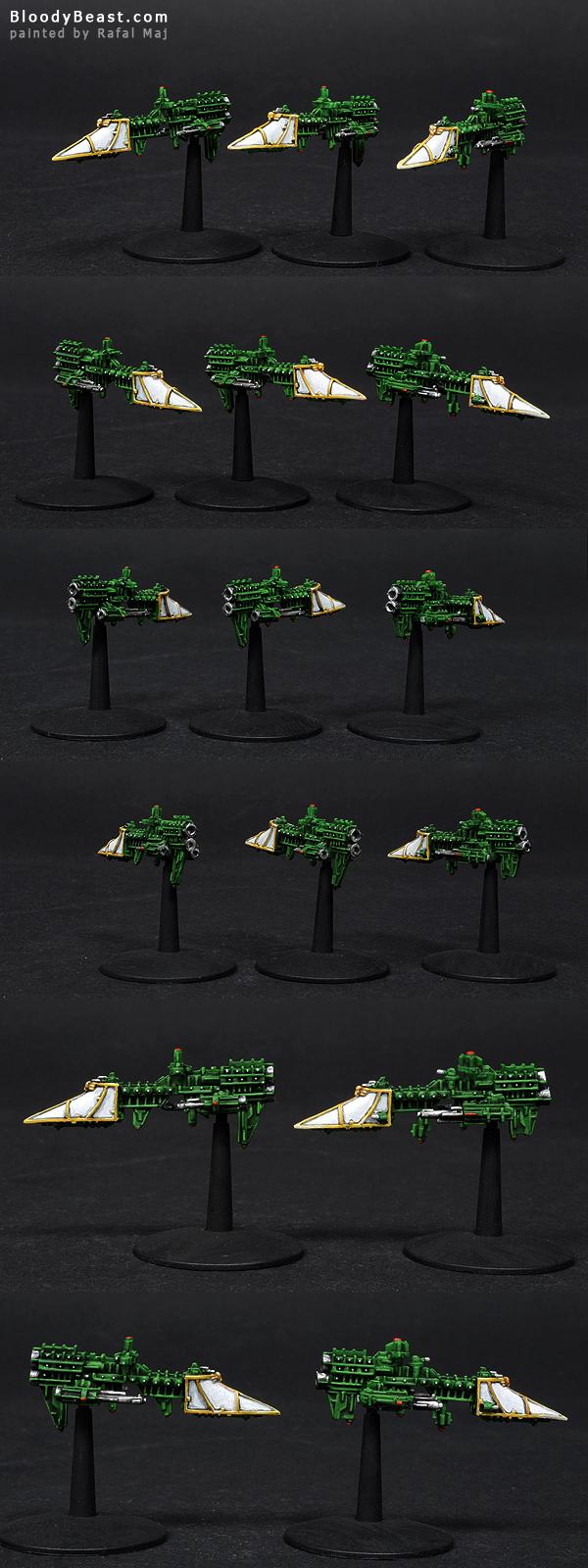 Imperial Sword Class Frigate painted by Rafal Maj (BloodyBeast.com)