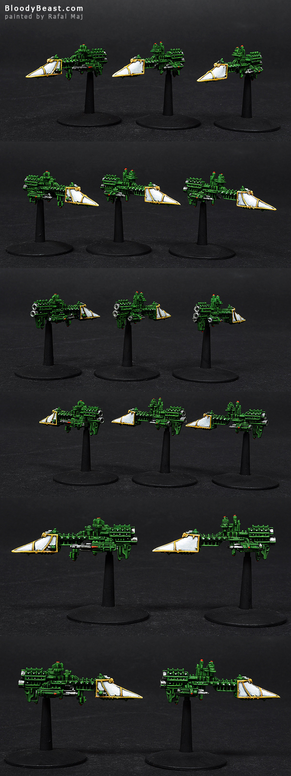 Imperial Sword Class Frigate painted by Rafal Maj (BloodyBeast.com)