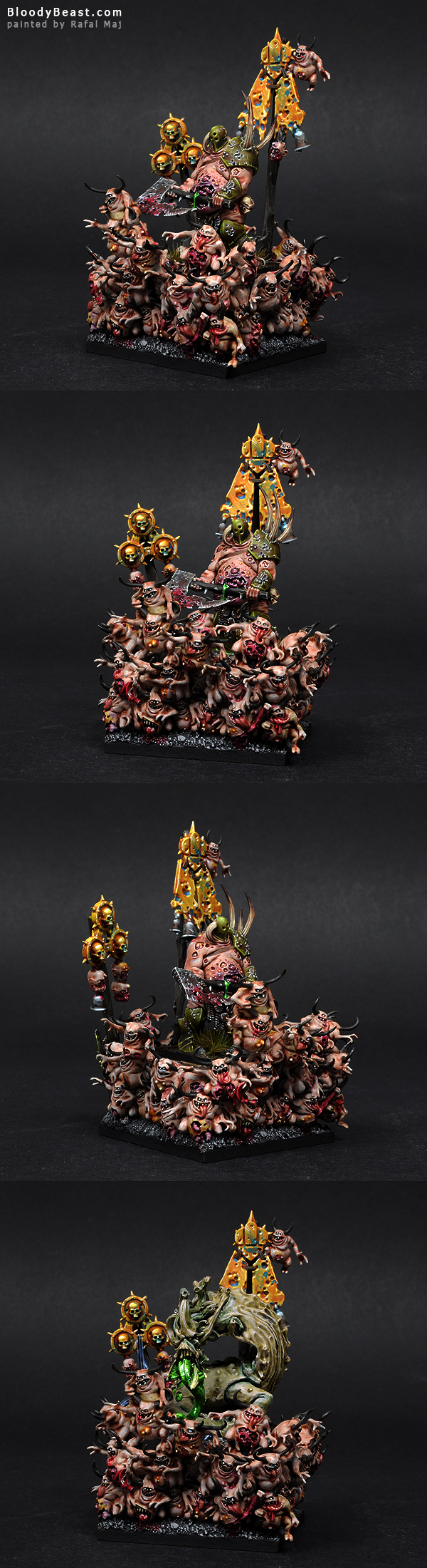 Lord on Palanquin of Nurgle painted by Rafal Maj (BloodyBeast.com)