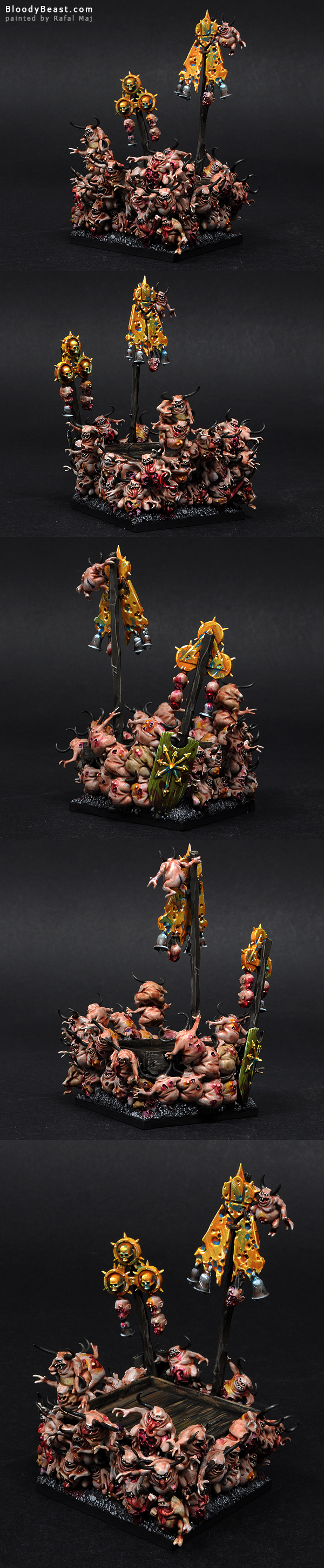 Palanquin of Nurgle painted by Rafal Maj (BloodyBeast.com)
