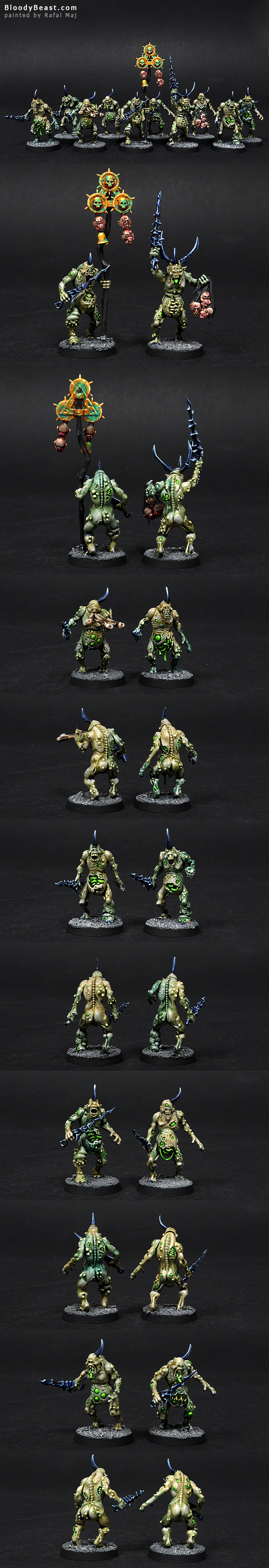 Plaguebearers painted by Rafal Maj (BloodyBeast.com)