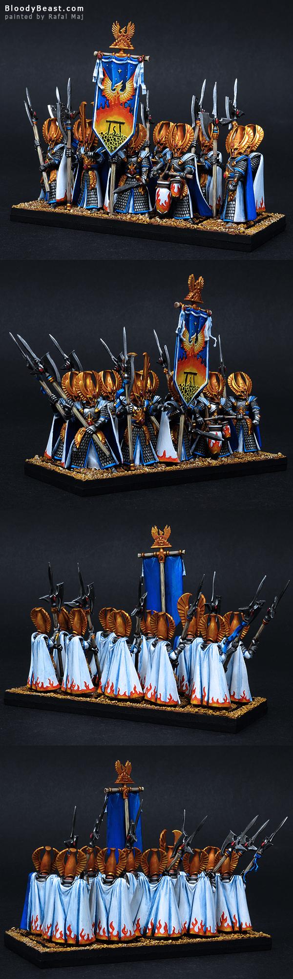 High Elves Phoenix Guard painted by Rafal Maj (BloodyBeast.com)