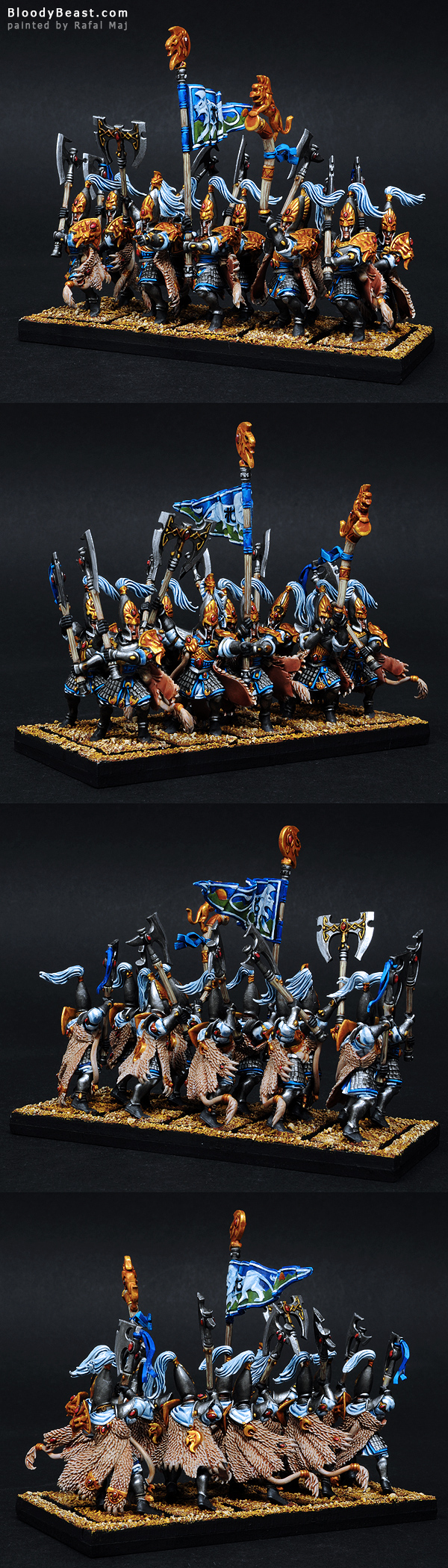 High Elves White Lions Of Chrace painted by Rafal Maj (BloodyBeast.com)