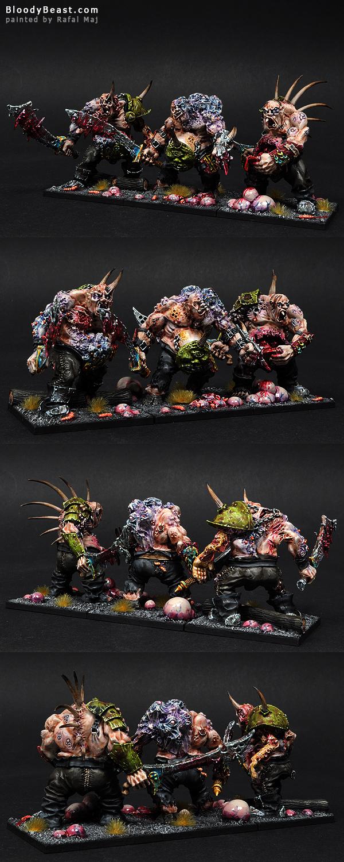 Forge World Nurgle Ogres painted by Rafal Maj (BloodyBeast.com)