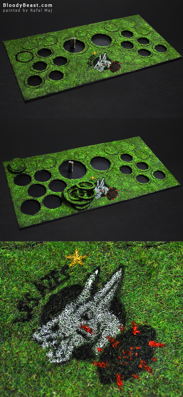 Blood Bowl Magnetic Display Base painted by Rafal Maj (BloodyBeast.com)