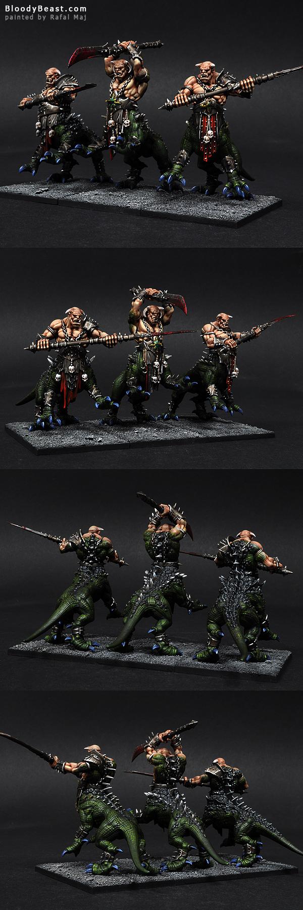 Chaos Dragon Ogres painted by Rafal Maj (BloodyBeast.com)