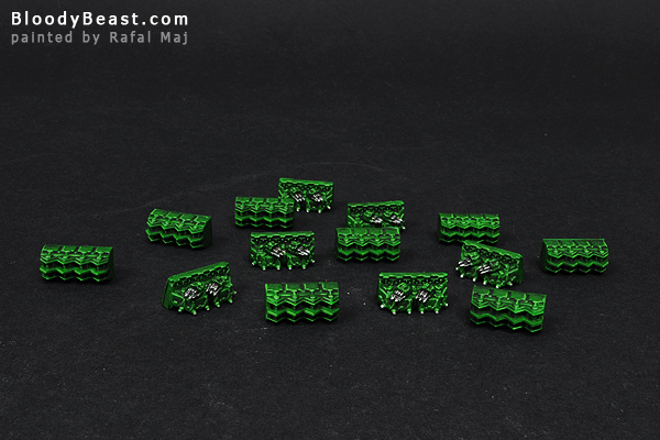 Battlefleet Gothic Magnetized Cruiser Parts painted by Rafal Maj (BloodyBeast.com)