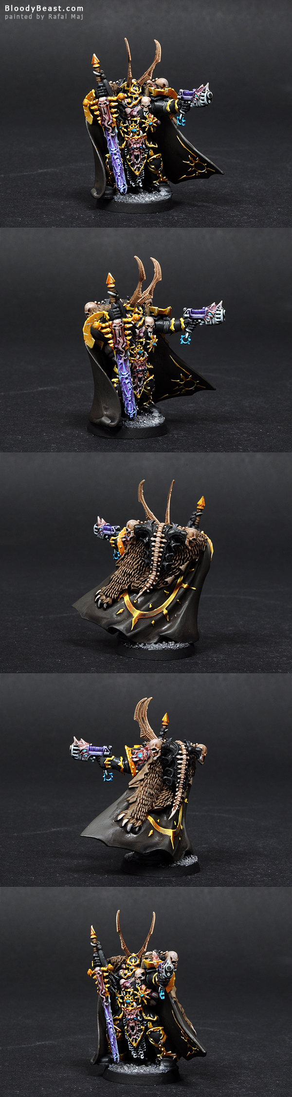 Chaos Space Marines Lord painted by Rafal Maj (BloodyBeast.com)
