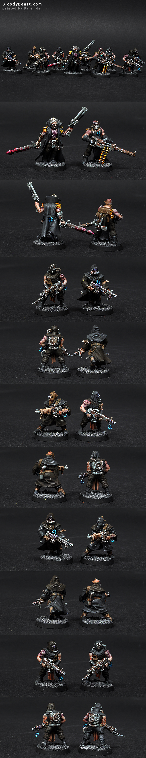 Chaos Space Marines Chaos Cultists with Autoguns painted by Rafal Maj (BloodyBeast.com)