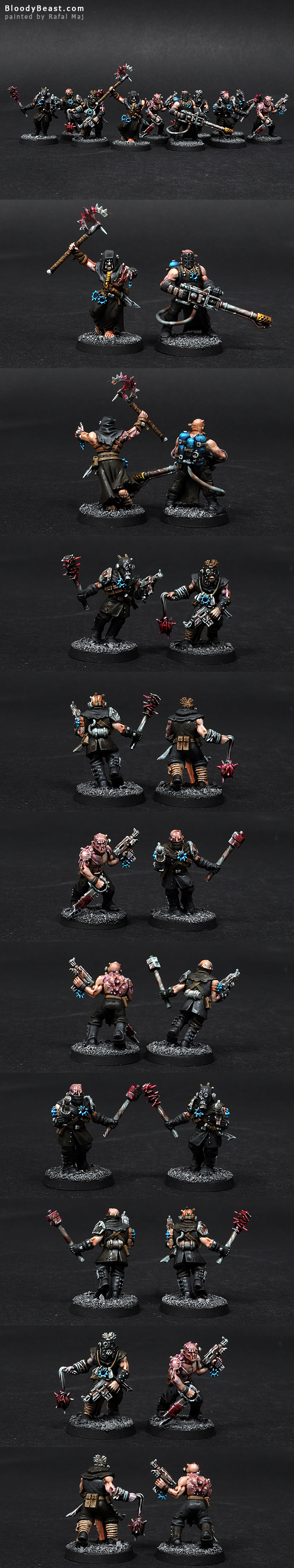 Chaos Space Marines Chaos Cultists with Autopistols painted by Rafal Maj (BloodyBeast.com)