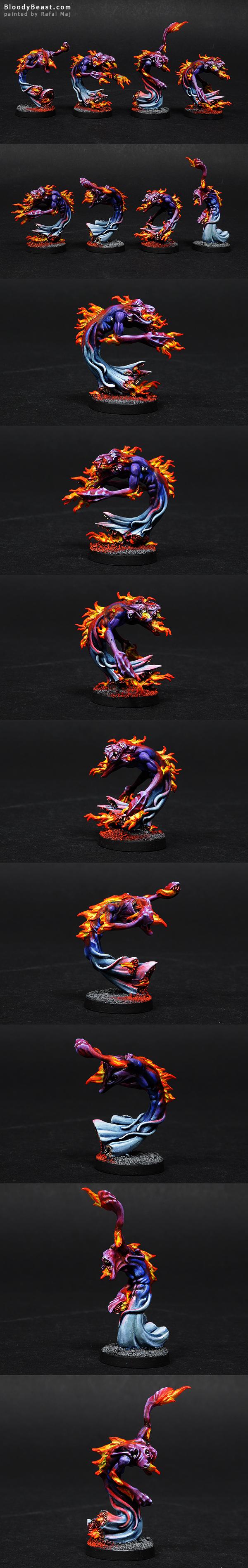 Flamers of Tzeentch painted by Rafal Maj (BloodyBeast.com)