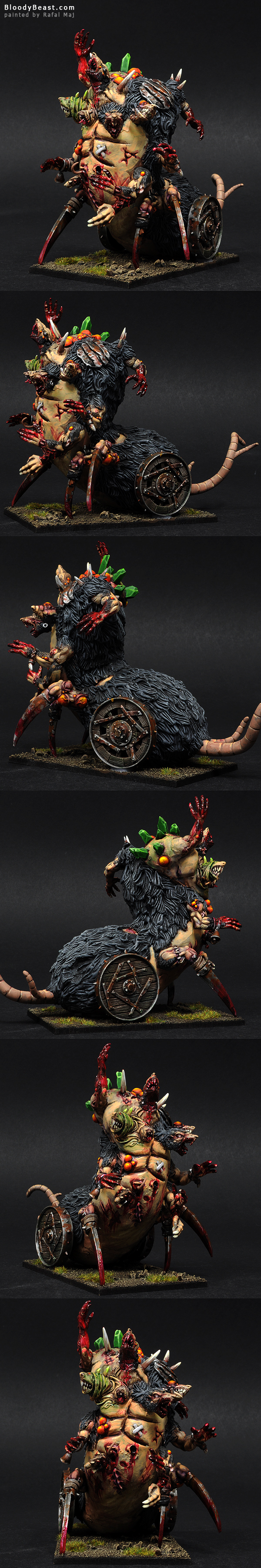 Skaven Hell Pit Abomination painted by Rafal Maj (BloodyBeast.com)