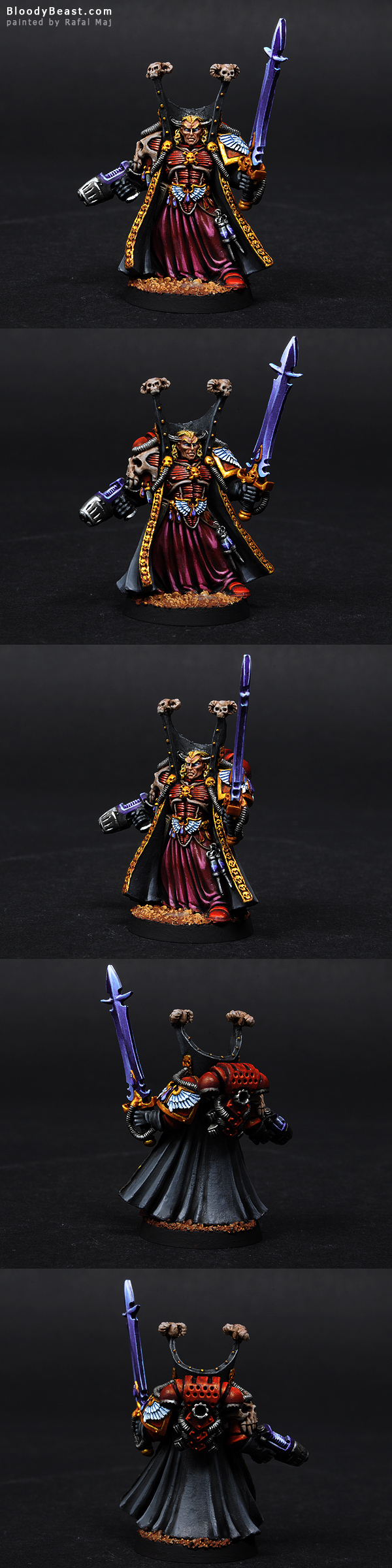 Blood Angels Mephiston, Lord of Death painted by Rafal Maj (BloodyBeast.com)