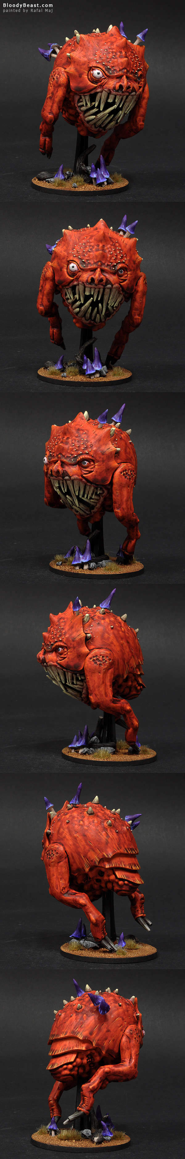 Huge Mangler Squig painted by Rafal Maj (BloodyBeast.com)
