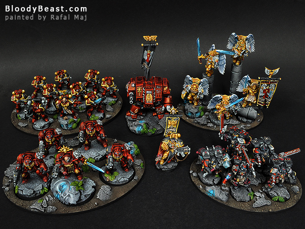 Blood Angels Army painted by Rafal Maj (BloodyBeast.com)