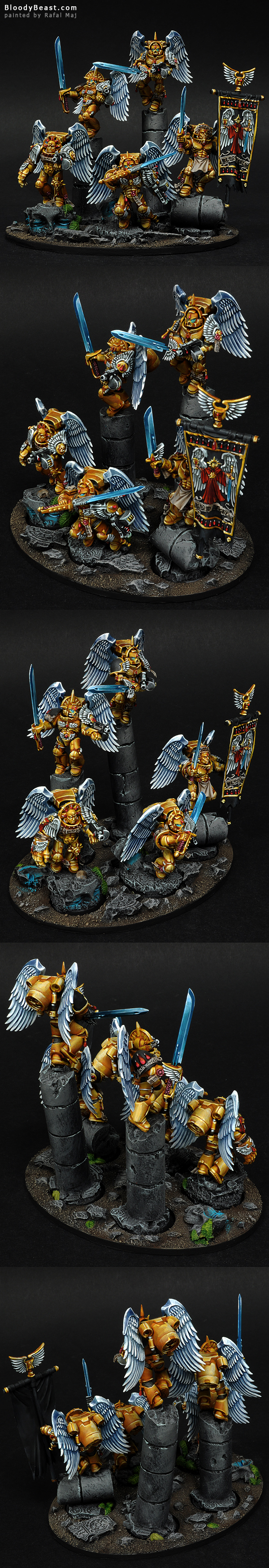 Blood Angels Sanguinary Guard painted by Rafal Maj (BloodyBeast.com)