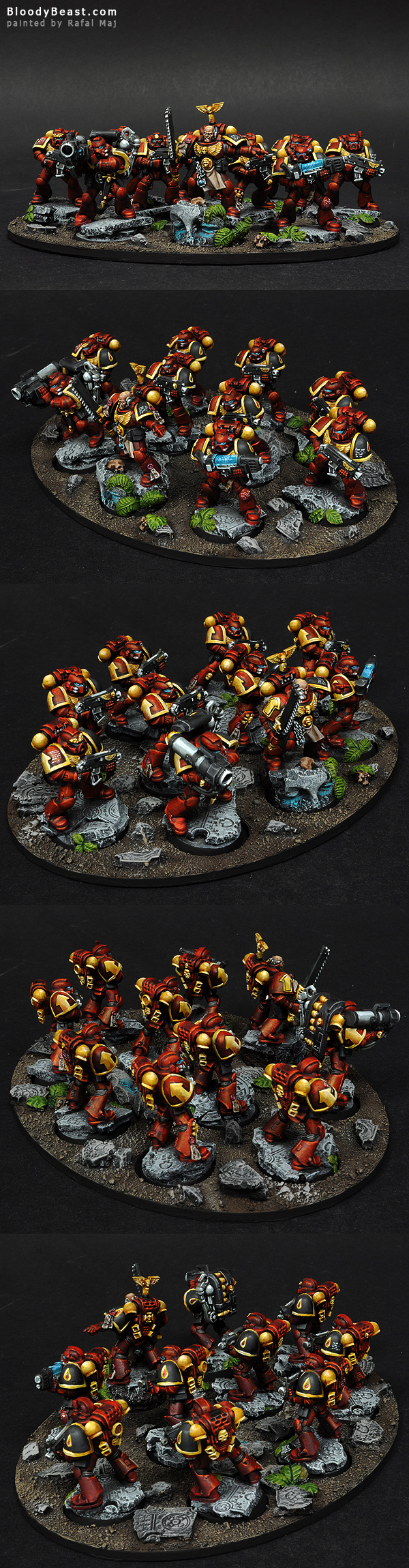 Blood Angels Tactical Squad painted by Rafal Maj (BloodyBeast.com)