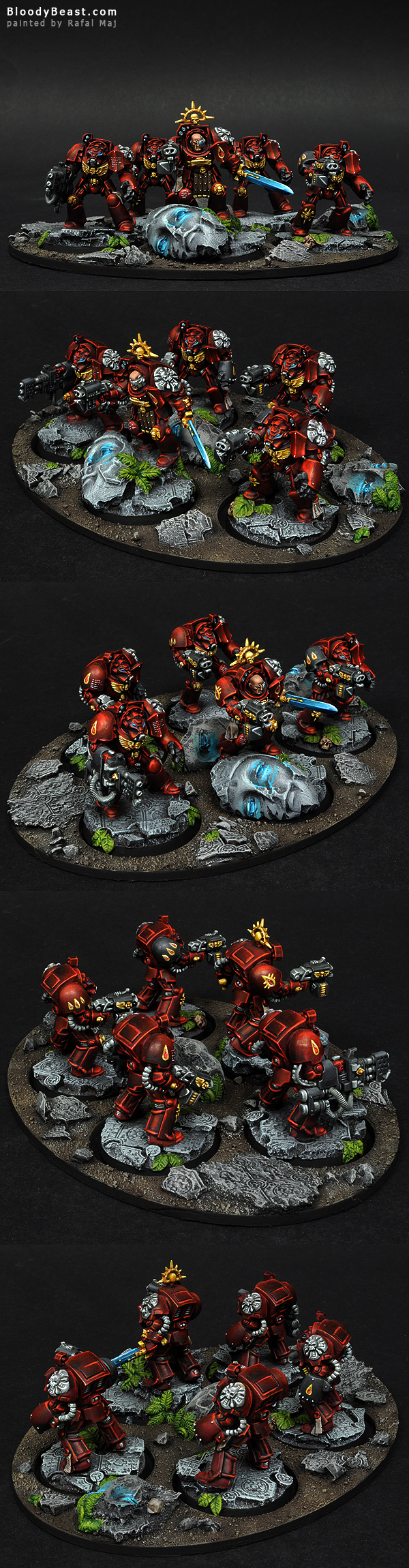 Blood Angels Terminator Squad painted by Rafal Maj (BloodyBeast.com)