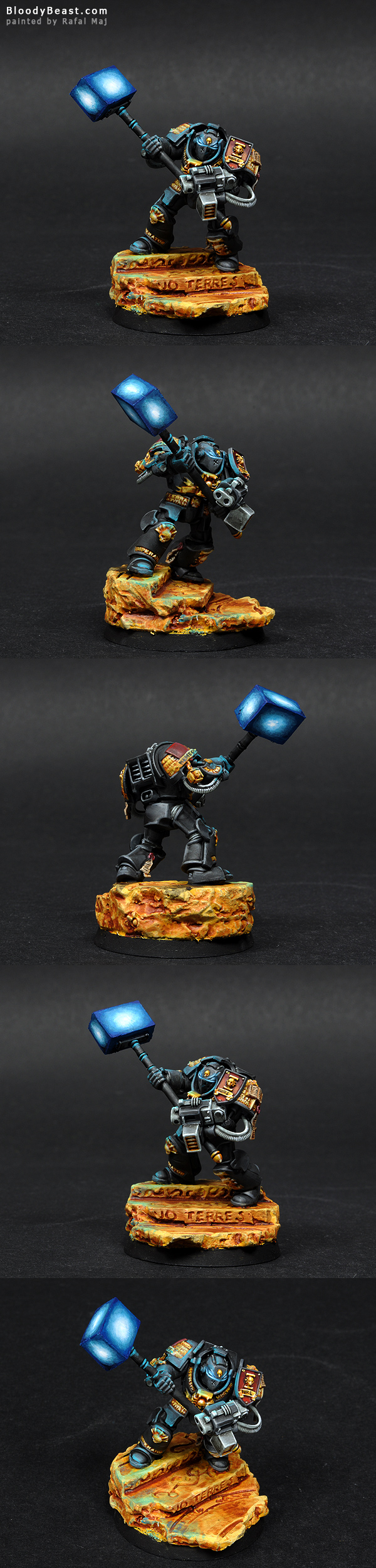 Grey Knight with Nemesis Daemon Hammer painted by Rafal Maj (BloodyBeast.com)