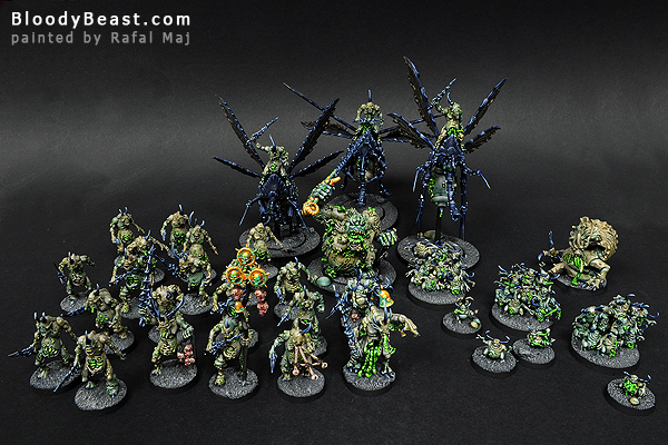 Nurgle Chaos Daemons Army painted by Rafal Maj (BloodyBeast.com)