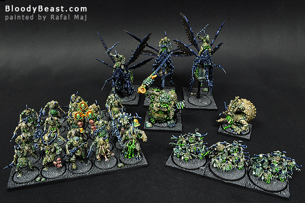 Nurgle Daemons of Chaos Army painted by Rafal Maj (BloodyBeast.com)