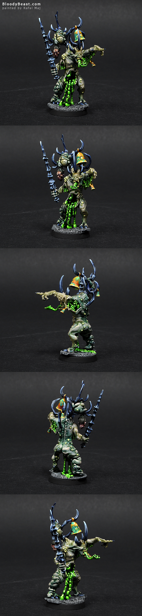 Herald of Nurgle painted by Rafal Maj (BloodyBeast.com)