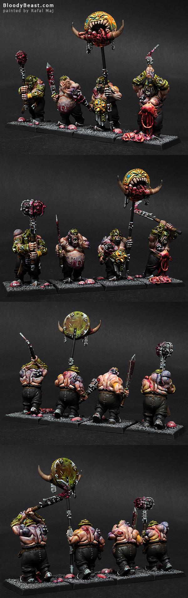 Nurgle Ogres painted by Rafal Maj (BloodyBeast.com)