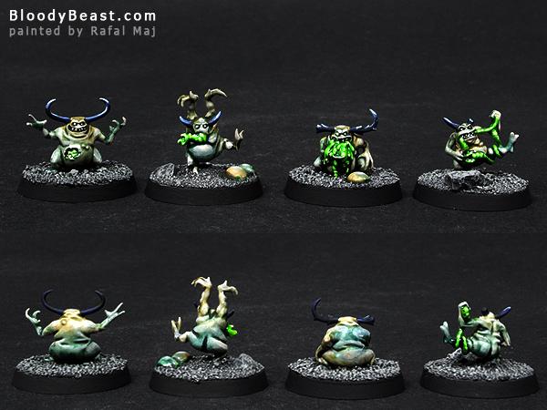 Nurgling Fillers painted by Rafal Maj (BloodyBeast.com)
