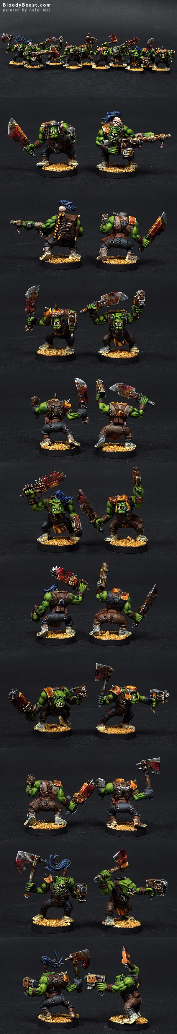 Ork Slugga Boyz painted by Rafal Maj (BloodyBeast.com)