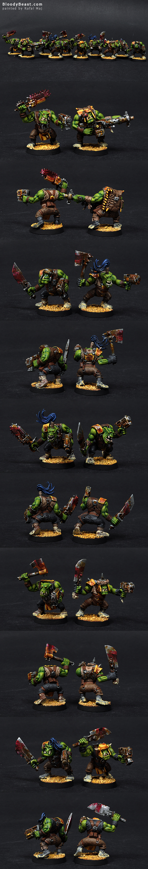 Ork Slugga Boyz painted by Rafal Maj (BloodyBeast.com)