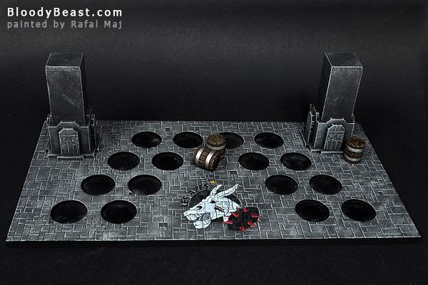 Dungeon Bowl Dwarf Team Display Base painted by Rafal Maj (BloodyBeast.com)
