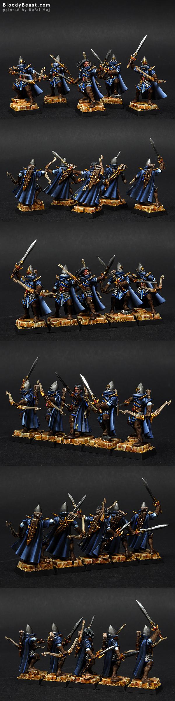 High Elves Shadow Warriors painted by Rafal Maj (BloodyBeast.com)