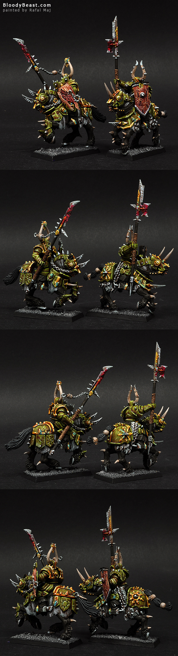 Nurgle Knights with Lances painted by Rafal Maj (BloodyBeast.com)