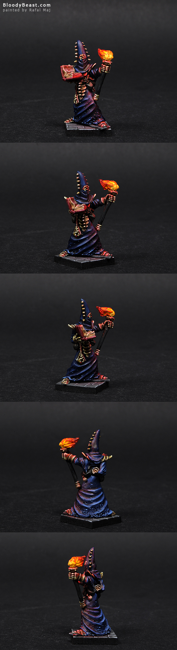 Chaos Sorcerer Shreve the Inquisitor painted by Rafal Maj (BloodyBeast.com)