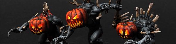 Halloween Pumpkin Head Crypt Horrors