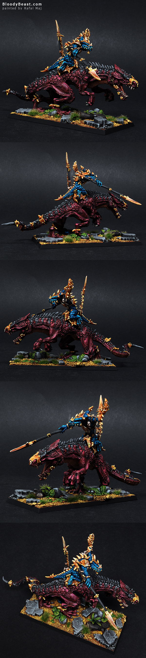 Lizardmen Ancient Scar Leader Kroq Gar painted by Rafal Maj (BloodyBeast.com)